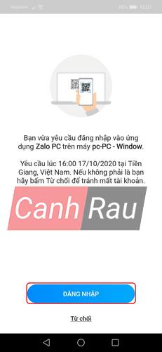 Cách đăng nhập Zalo trên máy tính hình 10