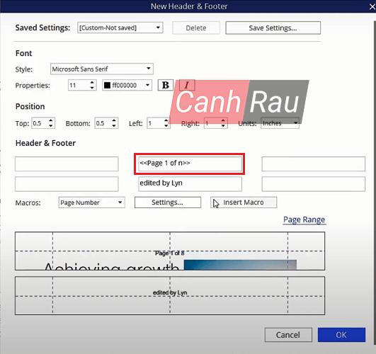 Cách đánh số trang trong file PDF hình 5
