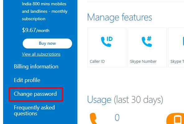 Cách đổi mật khẩu Skype hình 22
