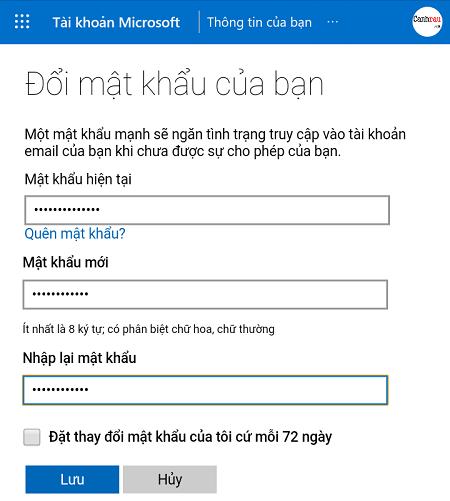 Cách đổi mật khẩu Skype hình 6