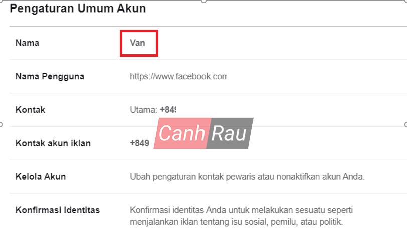 Cách đổi tên Facebook 1 chữ hình 11