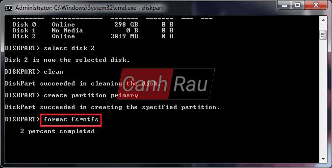 Cách format ổ cứng máy tính bằng cmd diskpart hình 10
