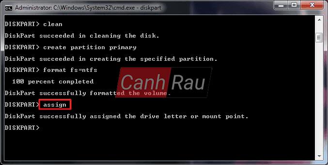 Cách format ổ cứng máy tính bằng cmd diskpart hình 11