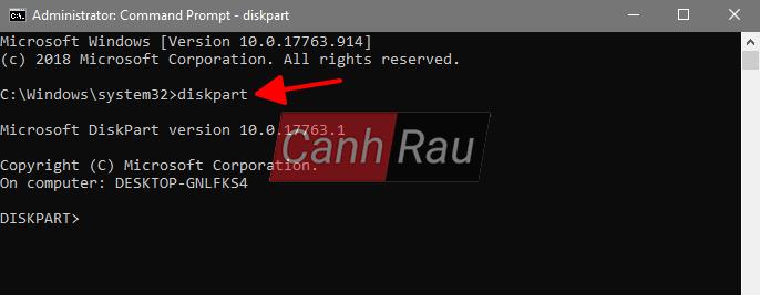 Cách format ổ cứng máy tính bằng cmd diskpart hình 2