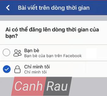 Cách khóa tường Facebook hình 4