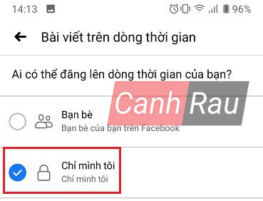 Cách khóa tường Facebook hình 8