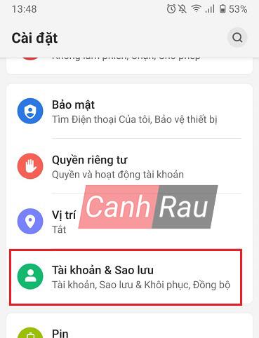 Cách lấy danh bạ từ Gmail về điện thoại hình 1