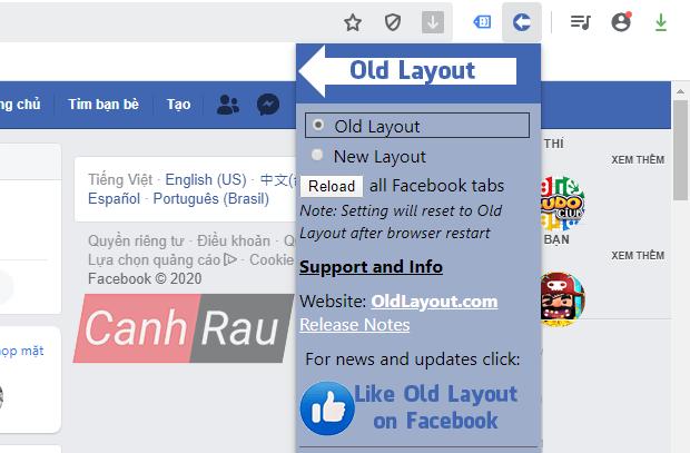Cách quay trở lại giao diện Facebook cũ hình 17