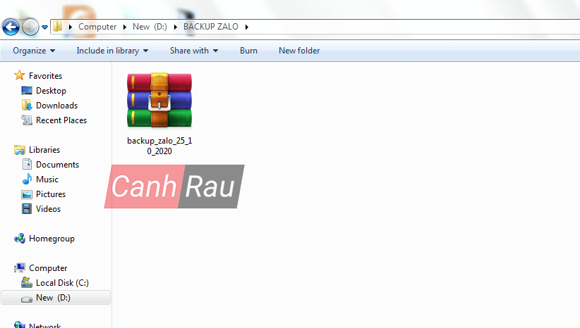 Cách sao lưu tin nhắn Zalo trên máy tính PC hình 6