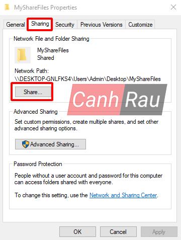Cách share thư mục file trong Windows 10 hình 2