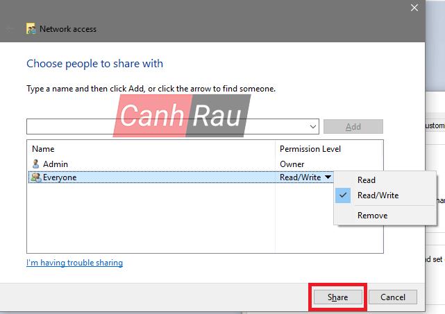 Cách share thư mục file trong Windows 10 hình 4
