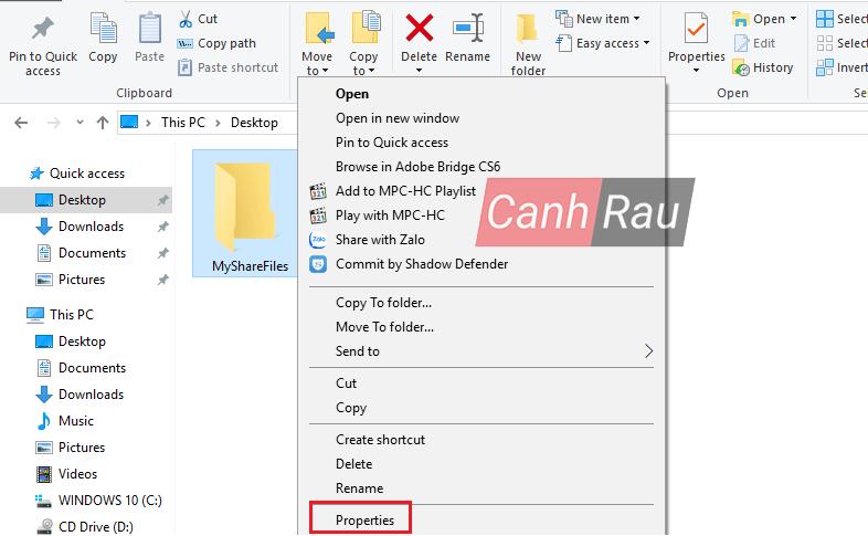 Cách share thư mục file trong Windows 10 hình 6