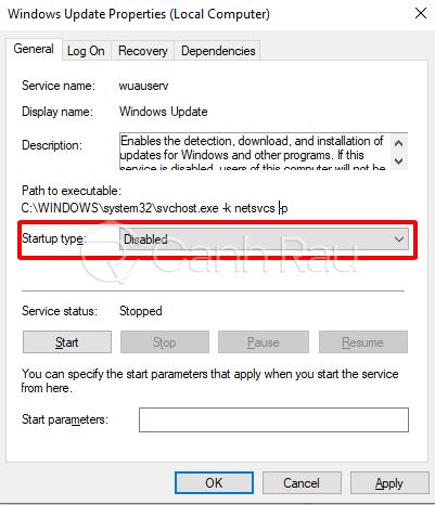 Cách tắt update trong Windows 10 hình 11