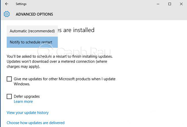 Cách tắt update trong Windows 10 hình 16