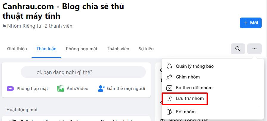 Cách xóa nhóm group trên Facebook hình 4