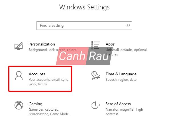 Cách xóa tài khoản User Account trên Windows 10 hình 1