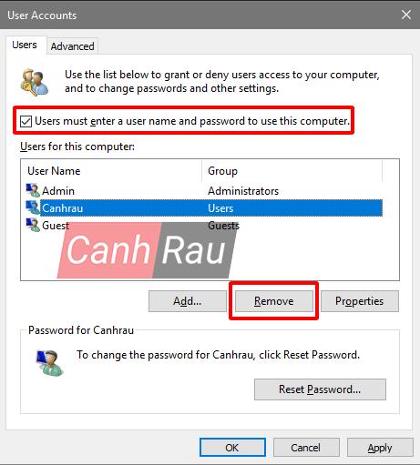 Cách xóa tài khoản User Account trên Windows 10 hình 14