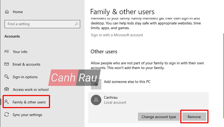 Cách xóa tài khoản User Account trên Windows 10 hình 2