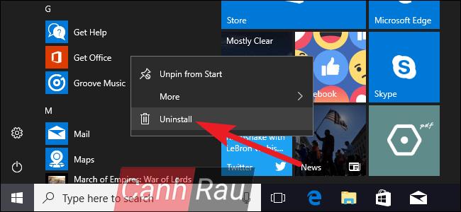 Cách xóa ứng dụng mặc định trên Windows 10 hình 1