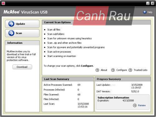 Phần mềm diệt virus cho USB hình 3