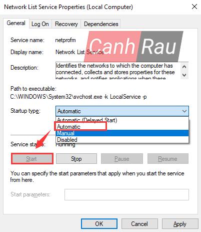 Sửa lỗi update Windows 10 0x80070422 hình 15