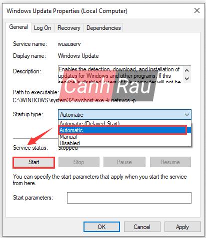 Sửa lỗi update Windows 10 0x80070422 hình 6