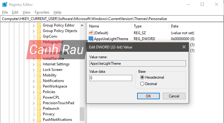 Cách bật Dark Mode Windows 10 hình 8