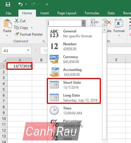 Cách định dạng ngày tháng trong Excel hình 7
