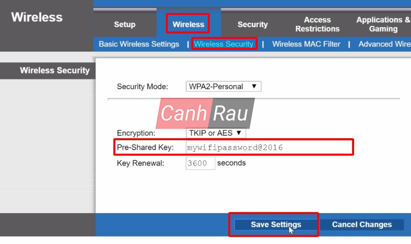 Cách đổi mật khẩu Wifi hình 12