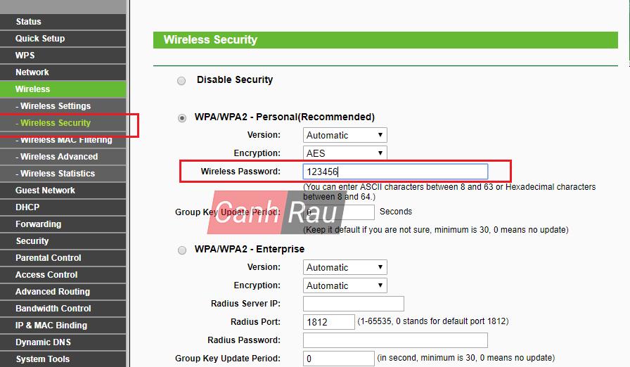 Cách đổi mật khẩu Wifi hình 14