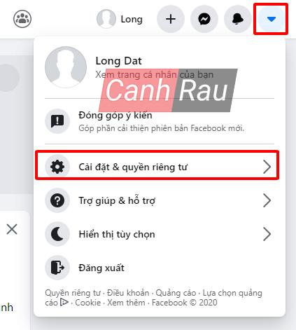 Cách đổi ngôn ngữ cho Facebook hình 1