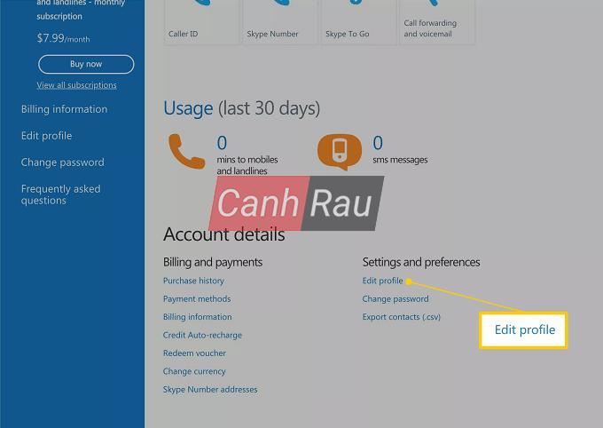 Cách đổi tên Skype hình 6