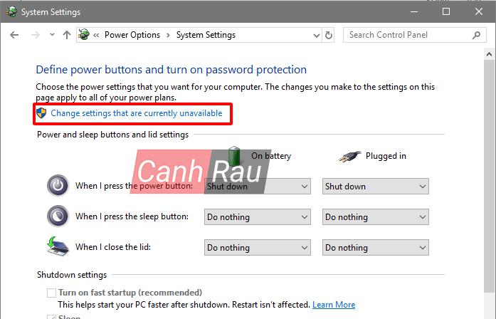 Cách làm máy tính khởi động nhanh trên Windows 10 bằng Fast Startup hình 3