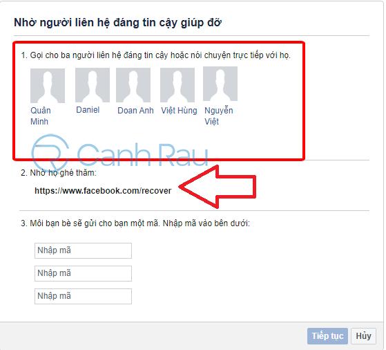 Cách lấy lại tài khoản Facebook khi bị hack hình 9