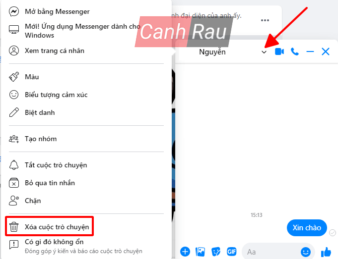 Cách xóa tin nhắn trên Messenger hình 1