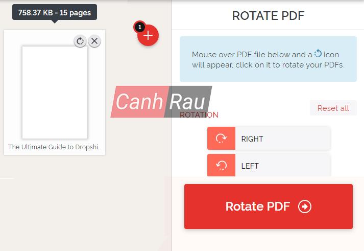 Cách xoay file PDF trên máy tính hình 8