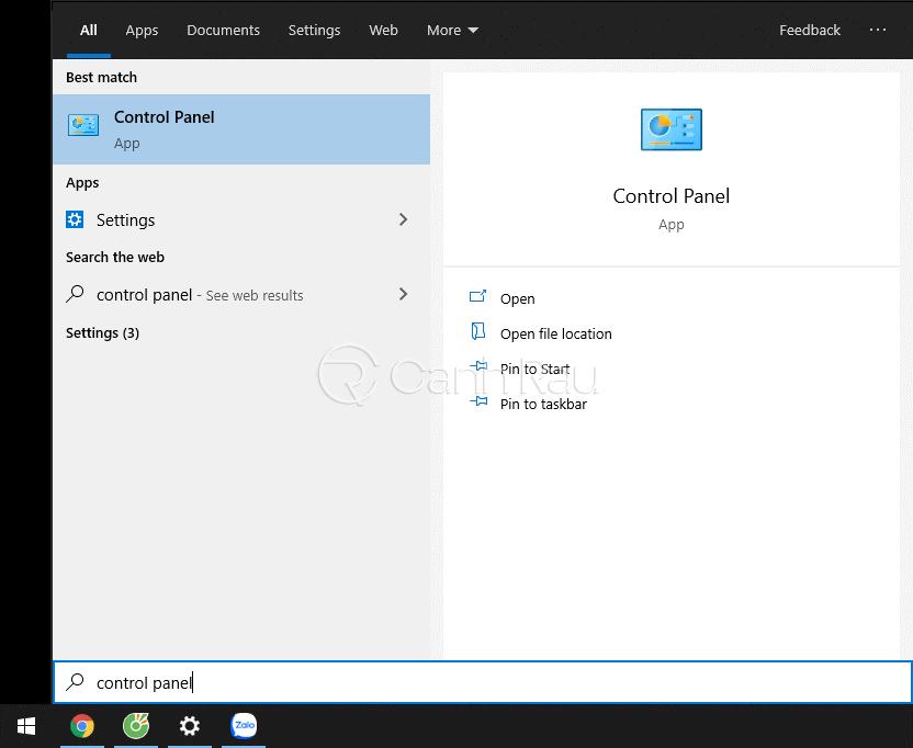 Hướng dẫn cách mở Control Panel trên Windows 10 hình 1