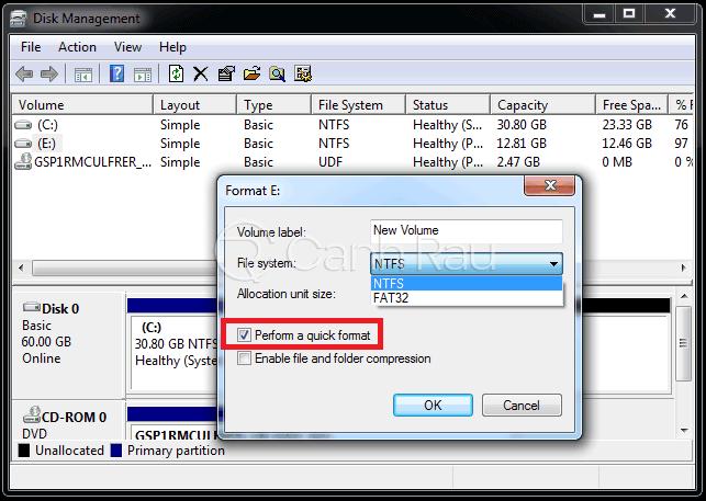 Hướng dẫn sửa lỗi không format được USB hình 7
