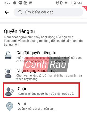 Cách bỏ chặn trên Facebook hình 5