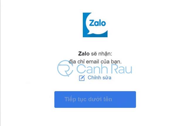 Cách đăng nhập Zalo bằng Facebook hình 2