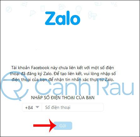 Cách đăng nhập Zalo bằng Facebook hình 4