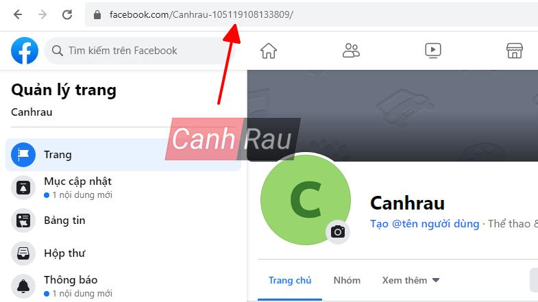 Cách lấy ID Fanpage Facebook hình 1