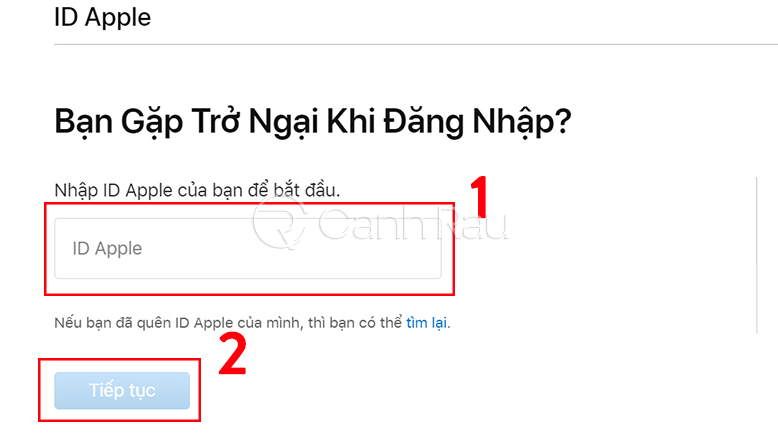 Cách lấy lại mật khẩu iCloud khi quên hình 1