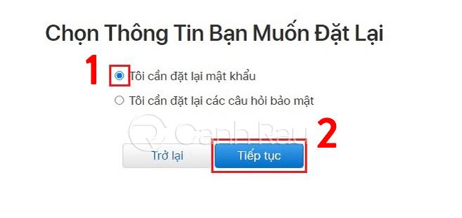 Cách lấy lại mật khẩu iCloud khi quên hình 2