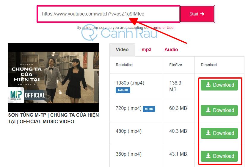 Cách tải nhạc trên Youtube hình 3