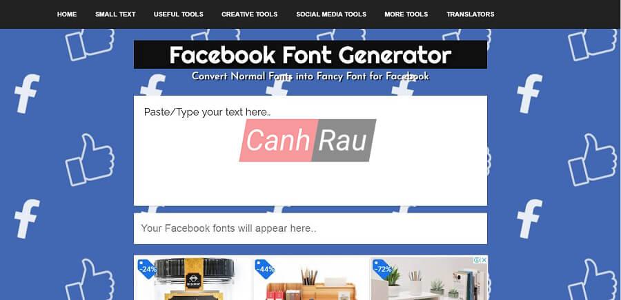 Cách thay đổi font chữ tren Facebook hình 6