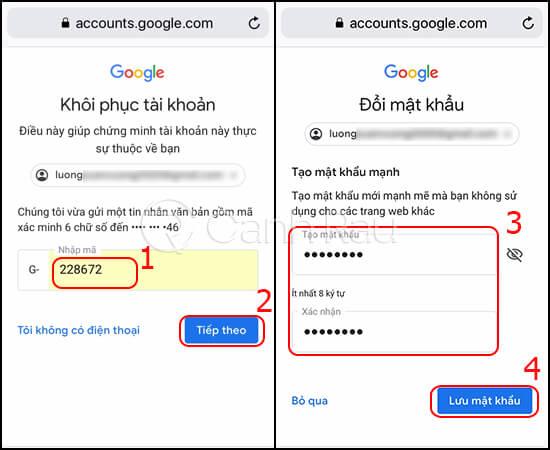 Hướng dẫn cách lấy lại mật khẩu Gmail hình 10