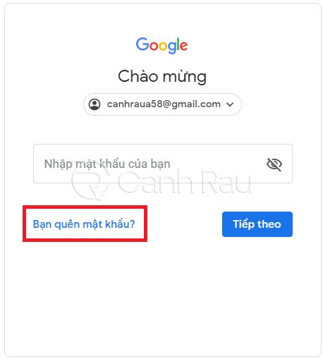 Hướng dẫn cách lấy lại mật khẩu Gmail hình 2
