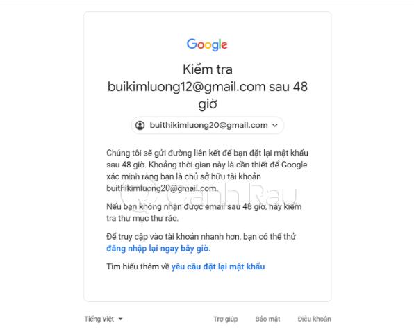 Hướng dẫn cách lấy lại mật khẩu Gmail hình 7
