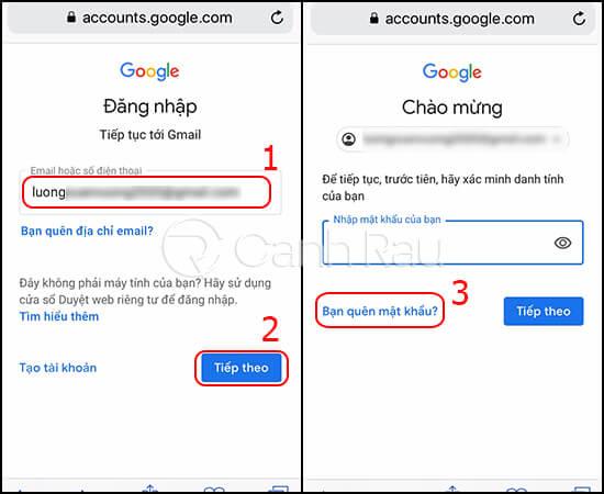 Hướng dẫn cách lấy lại mật khẩu Gmail hình 8